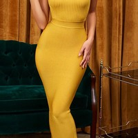 I Got You Babe Sleeveless Spaghetti Straps Ribbed Scoop Neck Bodycon Maxi Dress - 2 Colors Available