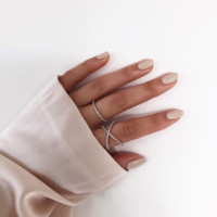 Criss Cross X ring 18K Rose Gold Ring