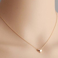2015 New Tiny Elegant Small Gold Love Heart Short Necklace Pendants Present Gift = 1958243204