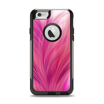 The Abstract Pink Flowing Feather Apple iPhone 6 Otterbox Commuter Case Skin Set