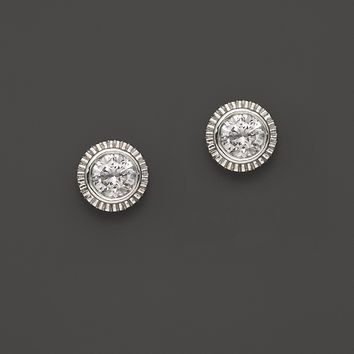 Bloomingdale'sDiamond Milgrain Stud Earrings In 14K White Gold, 0.25-0.50ct.t.w.