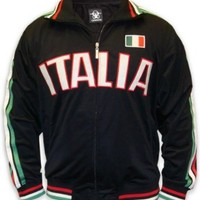 "International Soccer Track Jackets -- Italy ""Italia"" Soccer Jacket (Black)"