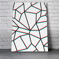 Canvas Wall Art Print - Geometric Anaglyph by Eric Bray