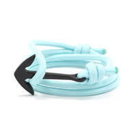 Black Anchor on Aqua Rope