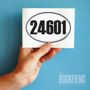 24601 oval bumper sticker or laptop decal