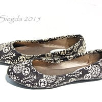 Mickey Mouse-Black and Ivory-womens flats-Disney-wedding shoes-gifts for her-custom shoes-girlfriend gifts-disney geek