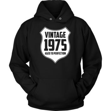 Vintage 1975 Hoodie and Long Sleeve Black/Blue/Red