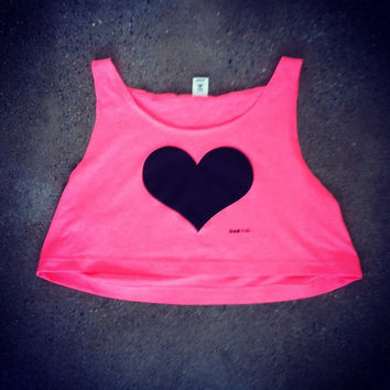 Rave Clothes - Heart Shirts - Neon Crop Tops - Bad Kids Clothing | Bad Kids Clothing