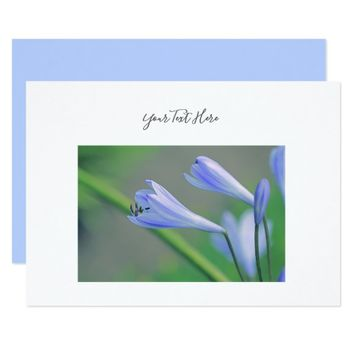 Your Text Gorgeous Blue Flowers Invitation