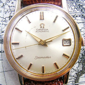 Shop Omega Vintage Gold Watches On Wanelo