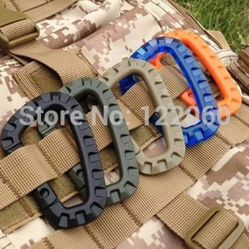 Mountaineering  Snap Clip Plastic Steel Climbing Carabiner Hanging Keychain Hook Fit Outdoor Accessory Hiking EDC Tool FW043