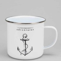 The Adventurer Enamel Mug- White One