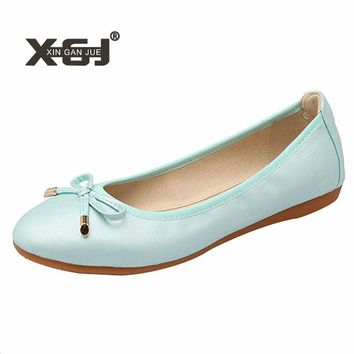 New Casual Shoes Ladies Big Size 43 44 Ballerina Flats For Womens Soft Outsole Ballet Flats Foldable Autumn Women Flat Shoes