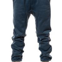 The NKD Winter Fleece Drop Crotch Jogger (Denim Blue/ Athletic Grey)