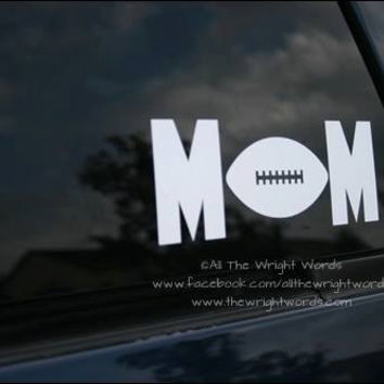 "7.65x3"" Football Mom Sport Vinyl Decal"