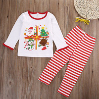 Christmas Kids Baby Girl Boy Xmas Costume Home Sleepwear Nightwear Pajamas Set