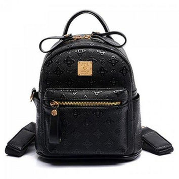 Stylish PU Leather and Embossing Design Women's Satchel