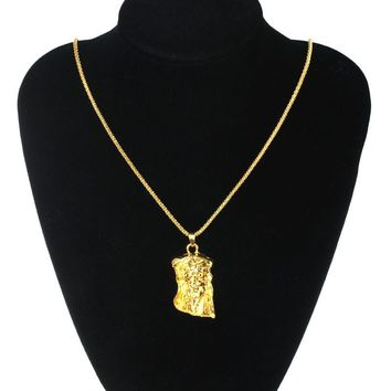 Fashion Women Jewelry Chain Jesus Avatar Choker Golden Necklace Hot