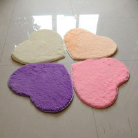 Heart Shaped Carpet Rug Home Bedroom Floor Mat Fluffy Living-Room Bathroom Cover Decoration New Area Door