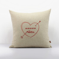 Valentine's Day Gifts,Love decorative cushion cover, Heart throw pillow,Valentine Pillow,Couples Pillow Cases,personalized,custom pillow