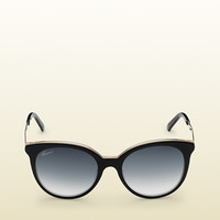black round shape embossed sunglasses 356971J07701033