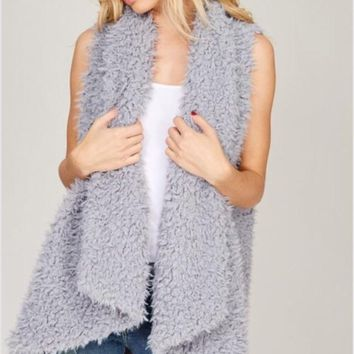 Listicle Shaggy Fur Vest