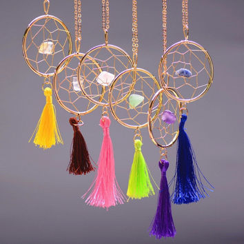 Gemstone Dream Catcher Necklaces