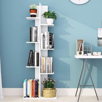 White Open Concept Bookcase Display