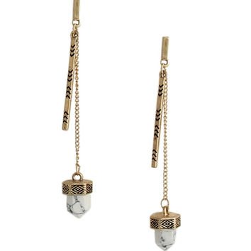 Dhalia Stone Drop Earrings