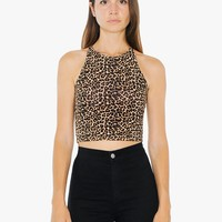 Printed Cotton Spandex Jersey Sleeveless Crop Top | American Apparel