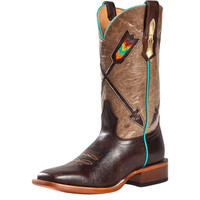 Women's Johnny Ringo Volcano Hueso Arrow Cowboy Boots