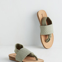 Loop, There It Is Sandal in Sage by Dirty Laundry from ModCloth