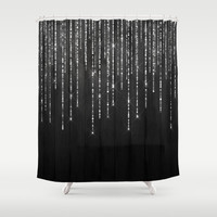 Fairy Lights on Wood 02 Shower Curtain by Aloke Design