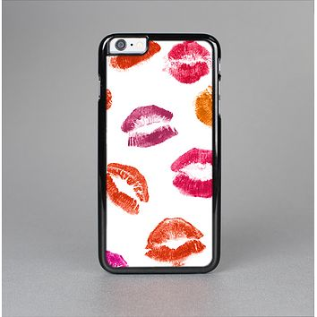The White with Colored Pucker Lip Prints Skin-Sert for the Apple iPhone 6 Plus Skin-Sert Case