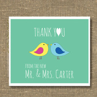 Thank You From the New Mr and Mrs Greeting by RockCandieDesigns