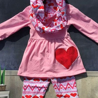 Girls Valentines Outfit, Valentines Leggings, Personalized Valentines Outfit, Toddler Valentines Day Outfit, Valentines Day, Heart Outfit