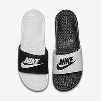 The Nike Benassi Just Do It Mismatch Men's Slide.
