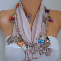 Summer Fashion  Floral Cotton Scarf, Cowl Scarf Necklace Gift Ideas For Her Women' Fashion Accessorie,Bridesmaid Gift