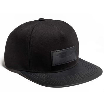 BUSCEMI CANVAS POSTBACK HAT | BLACK