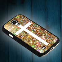 Cross glitter design on iphone 5s case, iphone 5c case, iphone 4s case, and samsung s3, samsung s4 cases tocoolcases