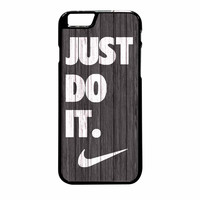 Nike Just Do It Wood Colored Darkwood Wooden iPhone 6 Plus Case