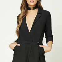 Notched Lapel Romper