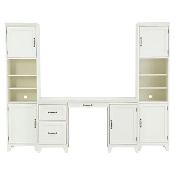 Hampton Desk + Tower Set, Simply White