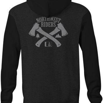 The Hatchet Hoodie Charcoal Heather/Black (SM)