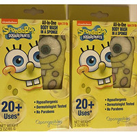 Spongebob Squarepants All-in-One Body Wash in a Sponge, 2 Pack