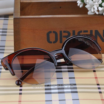 Vintage Women Sunglasses Retro Cat Eye Semi-Rim Sunglasses Women Sun Glasses Sunglass Eyewear gafas de sol