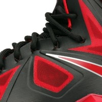 "Nike Lebron X ""Bred"" Mens Basketball Shoes 541100-006 Black 10.5 M US"
