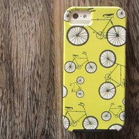 Bicycle iPhone case 5/5s 4/4s retro iPhone case hipster iPhone case Chartreuse Green VIBE case