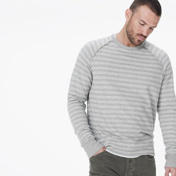 INSIDE OUT MINI STRIPE SWEATSHIRT