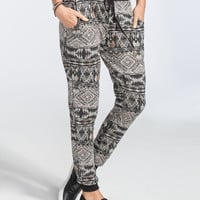 Full Tilt Ethnic Print Womens Jogger Pants Multi  In Sizes